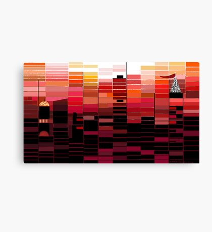 """Sunrise"" - Morning colors over the city. Canvas Print"