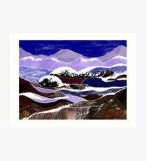 """Blending Waters""  - The streams down the mountains. Art Print"