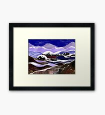"""""""Blending Waters""""  - The streams down the mountains. Framed Print"""