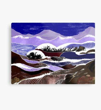 """Blending Waters""  - The streams down the mountains. Metal Print"