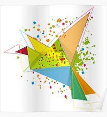 Paper bird paper plan  Poster