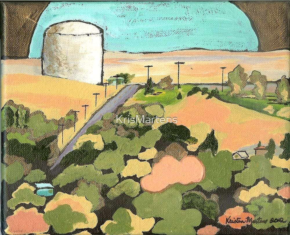 Water Tank, Havre, Montana by KrisMartens