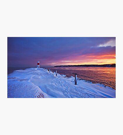 Lake effect sunrise - Rochester NY Photographic Print