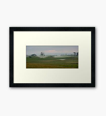 Misty morning - Northland NZ Framed Print