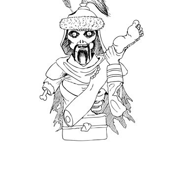 Zombie Genghis by nushie