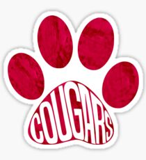 Cougars Paw Sticker