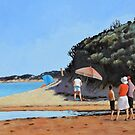 Sunny Day at Anglesea Beach by Mick Kupresanin