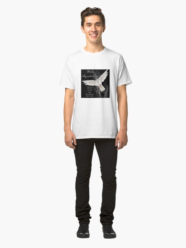 Alternate view of Dove Symbolism Totem Spirit Guide Classic T-Shirt