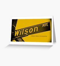 Wilson Avenue F8C200 Black Pasadena CA by MWP Greeting Card