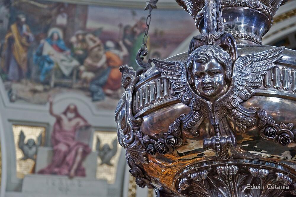 Mosta Church: Silver Votive Lamp by Edwin  Catania