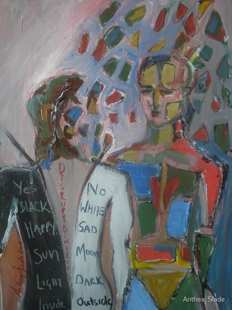 Derrida Deconstruction Man by Anthea  Slade