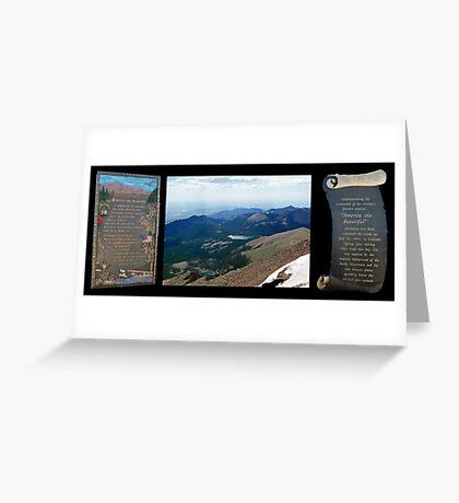 Pike's Peak - America the Beautiful Greeting Card