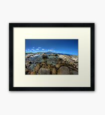 Rocks at Bettys beach Framed Print