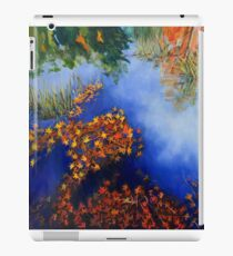 The wind scatters the golden leaves iPad Case/Skin