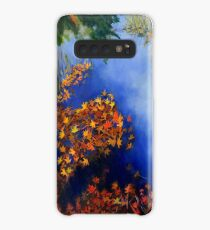 The wind scatters the golden leaves Case/Skin for Samsung Galaxy
