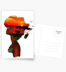African Sunset Postcards