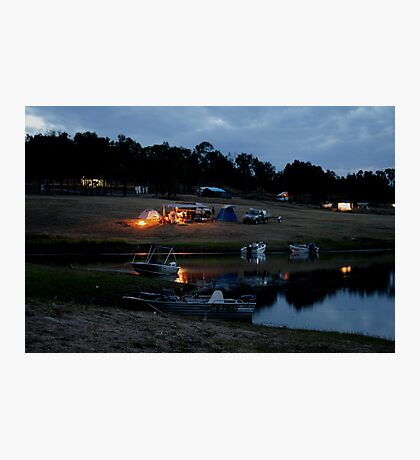 Camping on the Shores of Lake Boondooma Photographic Print