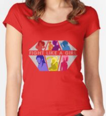 Fight Like A Girl Women's Fitted Scoop T-Shirt