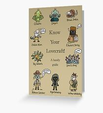 Know Your Lovecraft! Greeting Card