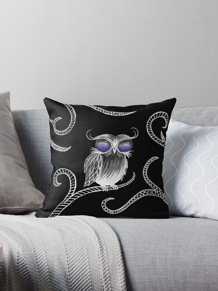 Owl let you hang around (black) by emilymartian