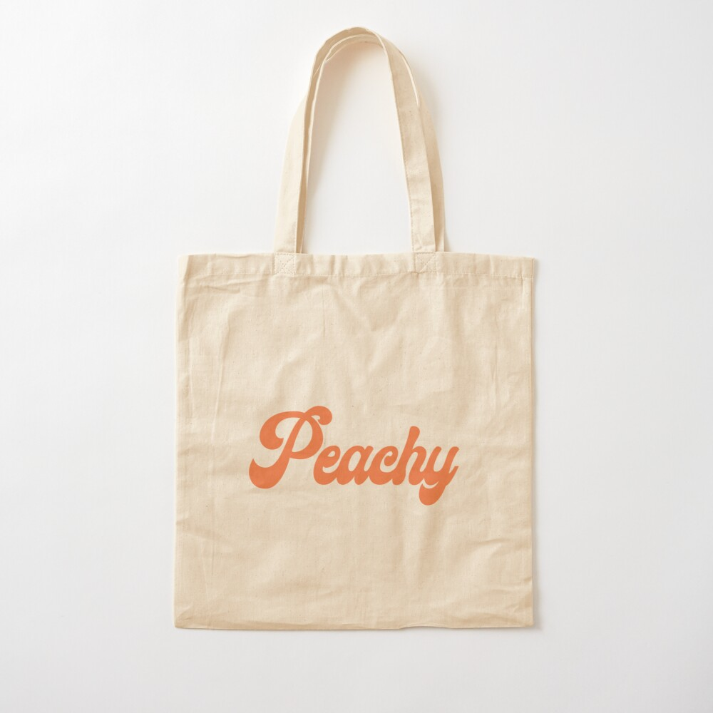 Peachy Cotton Tote Bag