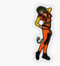 SJ Inspired Coast Guard Cold Weather Rescue Pinup Transparent Sticker