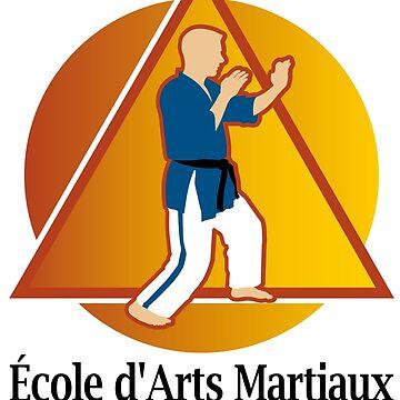 Petit logo École d'arts Martiaux Sylvain St-Pierre by VoRo