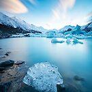 Tasman Lake Sunrise New Zealand by Adrian Alford Photography