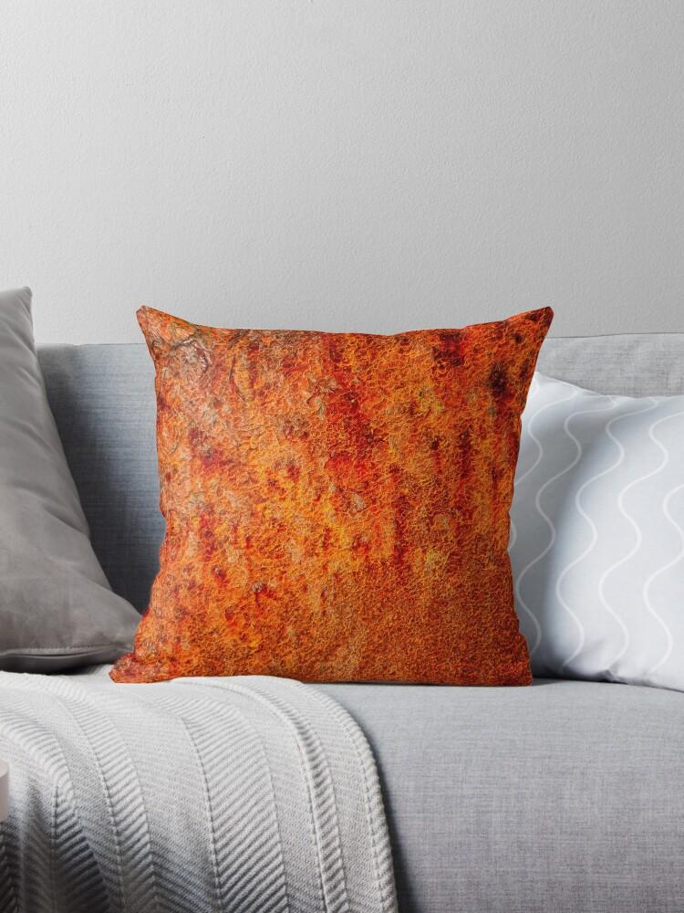 Quot Burnt Orange Quot Throw Pillows By Karen Betts Redbubble