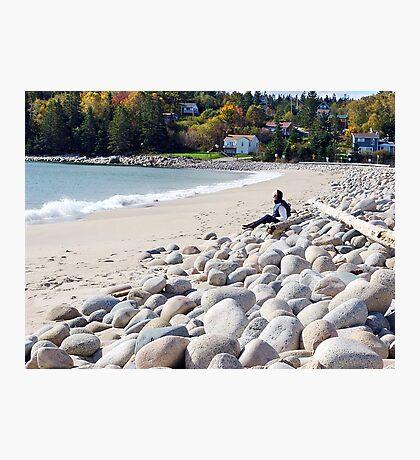 A Beach in Autumn Photographic Print