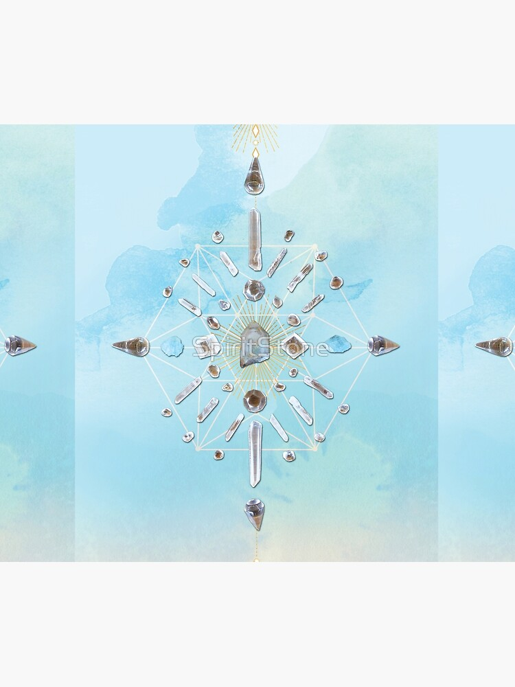 Ajoite Crystal Grid - Compassion by SpiritStone