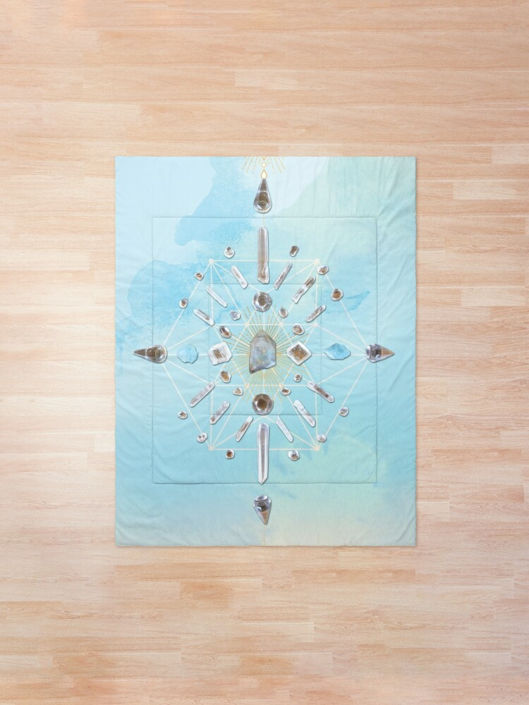 Alternate view of Ajoite Crystal Grid - Compassion Comforter