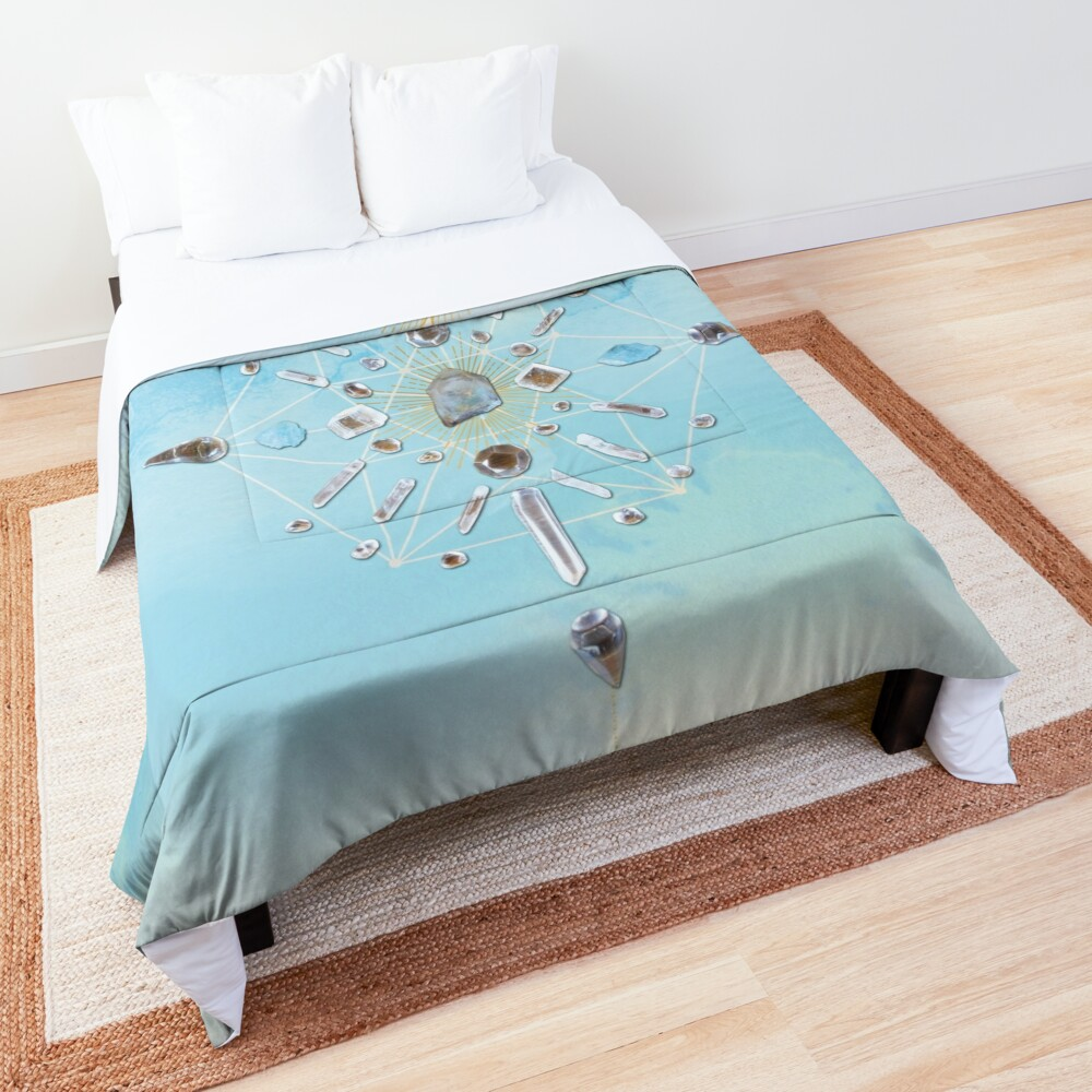Ajoite Crystal Grid - Compassion Comforter