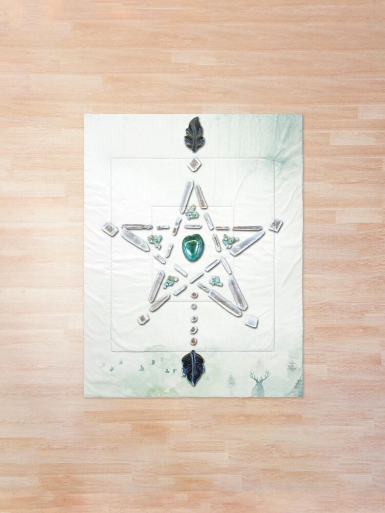 Alternate view of Malachite Crystal Grid - Natures Cycles Comforter