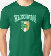 Waterford, Ireland with Shamrock Unisex T-Shirt