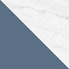 Marble Bluestone Diagonal Color Block by by-jwp