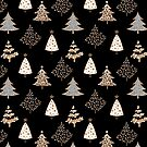 Seamless Merry Christmas abstract fur tree pine tree by fuzzyfox