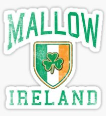 Mallow, Ireland with Shamrock Sticker
