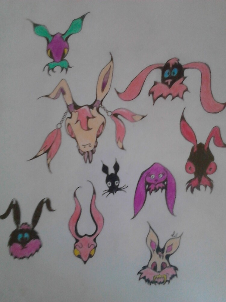 Maniacal Bunnies by scaroby