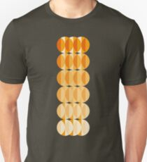 Leaves at autumn - a pattern in orange and brown Slim Fit T-Shirt
