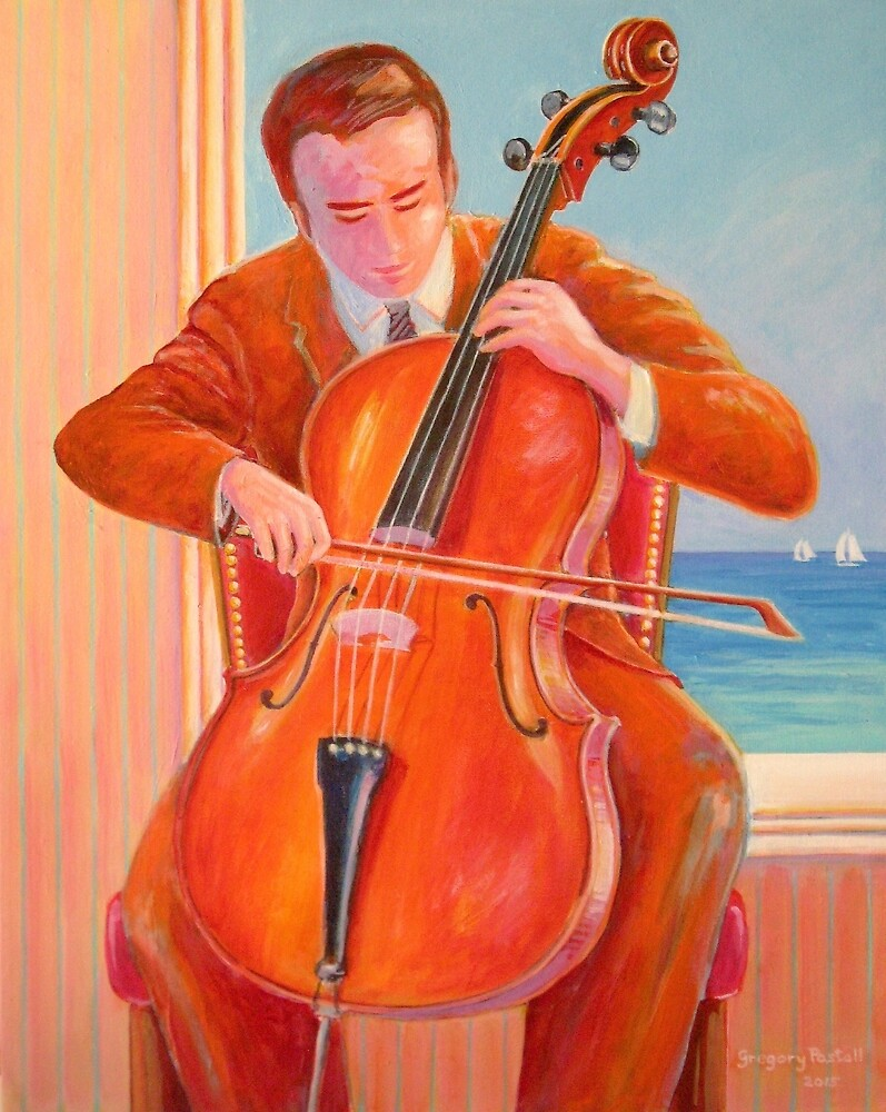 'Cello by the sea by Gregory Pastoll