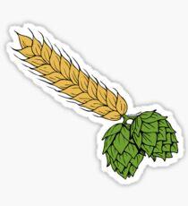 hops and barley Sticker