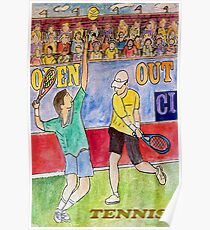 Tennis Strokes Poster