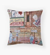 Wall of Recall in DeLeon, Texas Throw Pillow