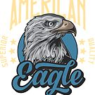 American Eagle inscription printed on products. by starchim01