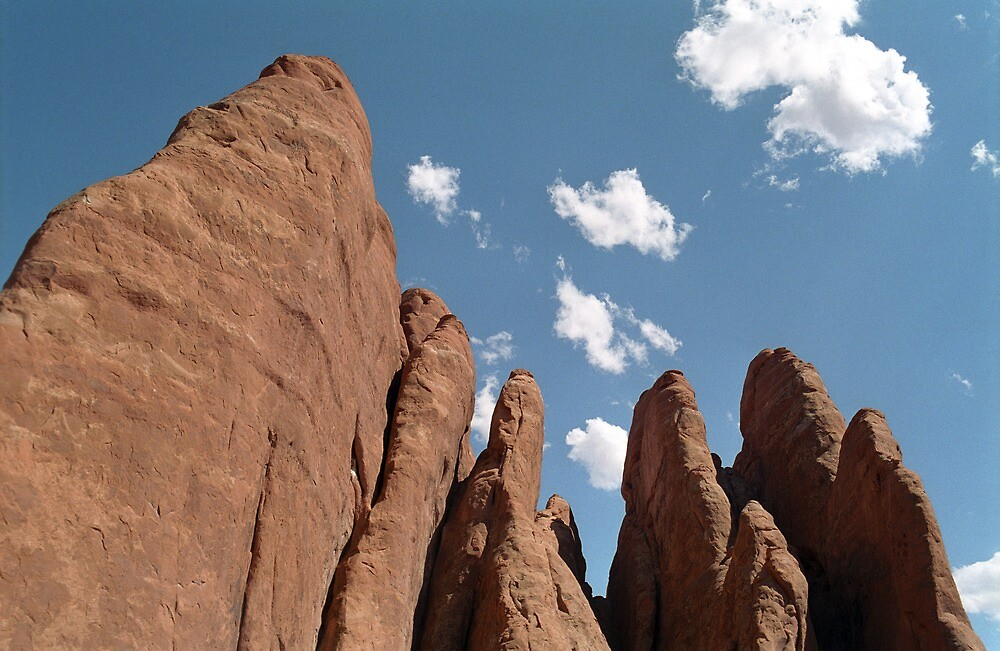 Sandstone Fins: Arches National Park by RocklawnArts