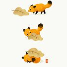 Fox and leaf blanket by freeminds