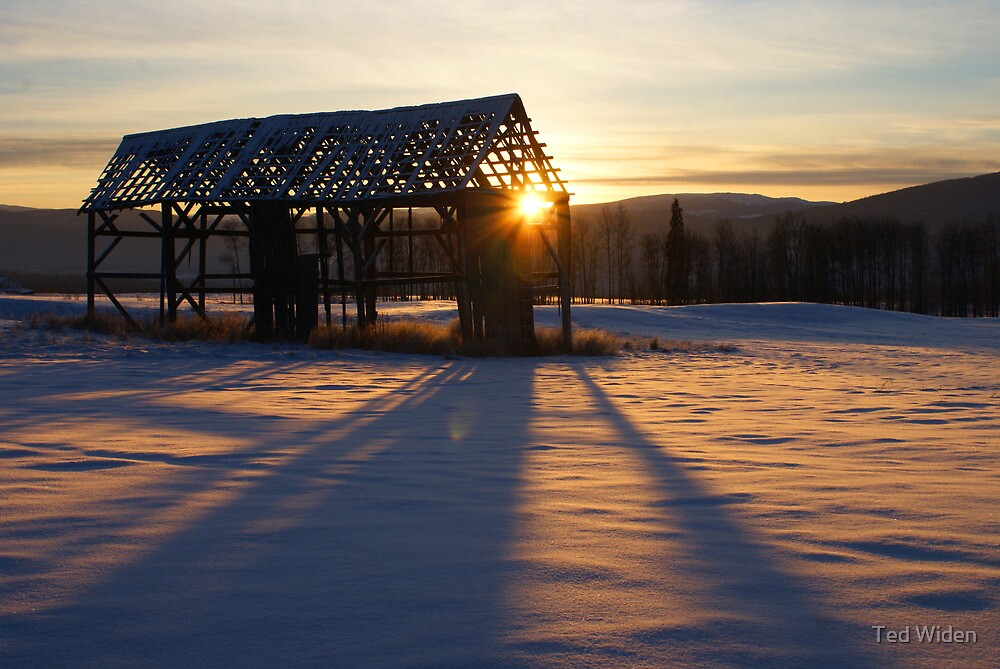 Empty Winter Hayshed by Ted Widen