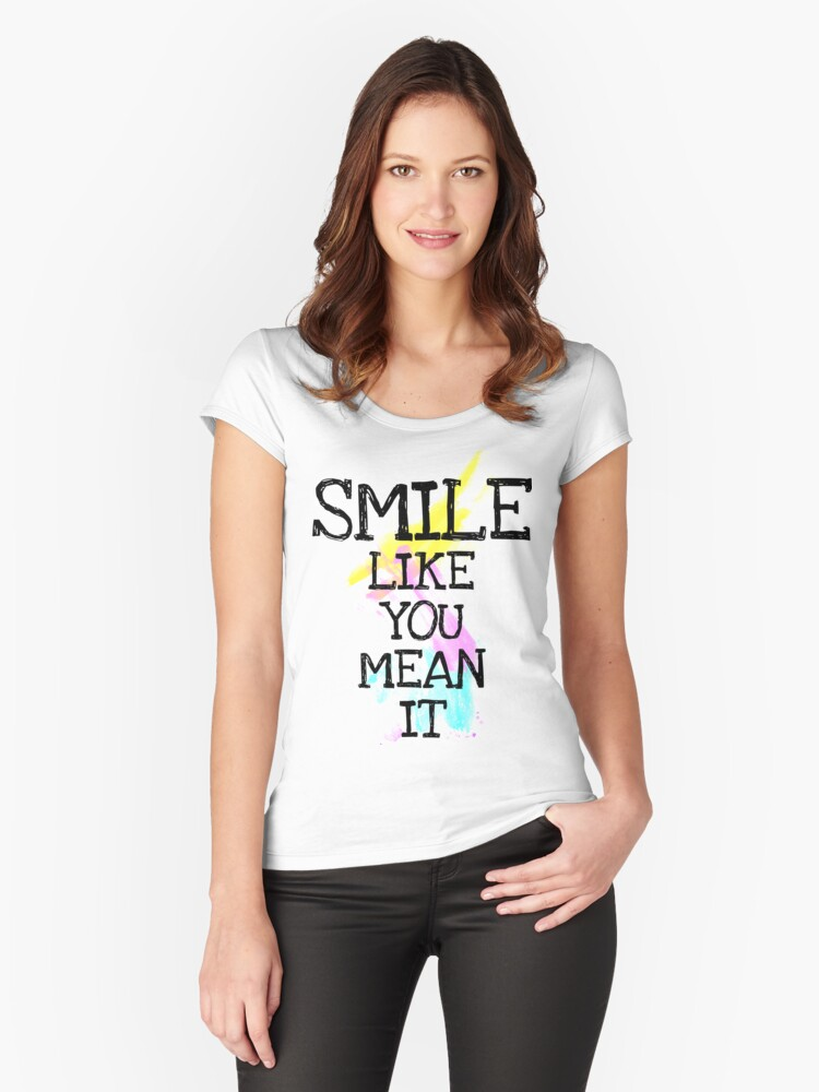smile like... Women's Fitted Scoop T-Shirt Front