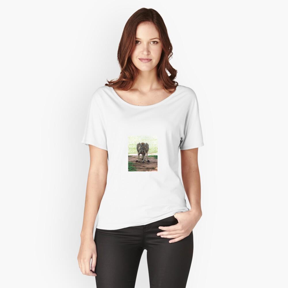Kangaroo Women's Relaxed Fit T-Shirt Front